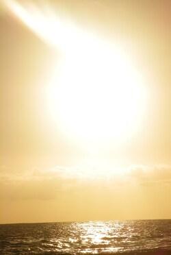 Coucher de soleil à Etang Salé dernier weekend de mai