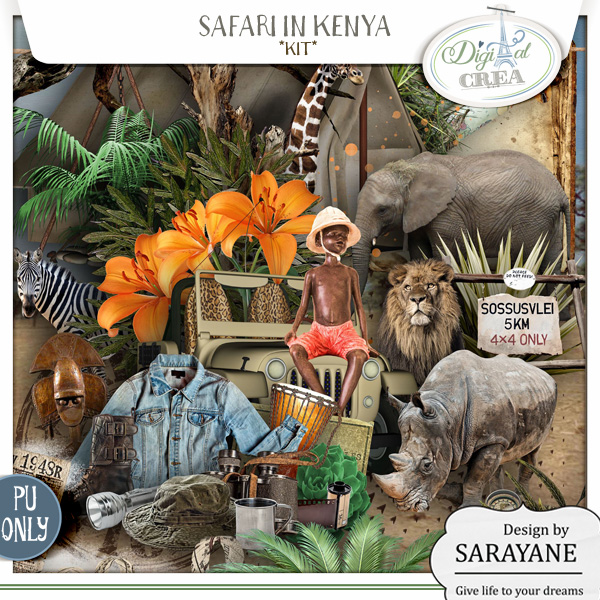 Safari in Kenya (PU/S4H) by Sarayane