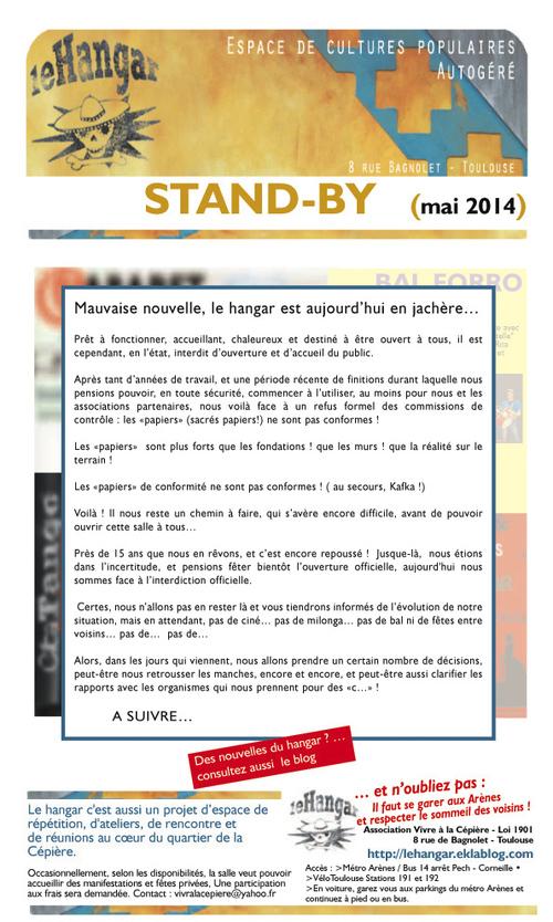 Stand-by : Le Hangar de la Cépière en jachère !