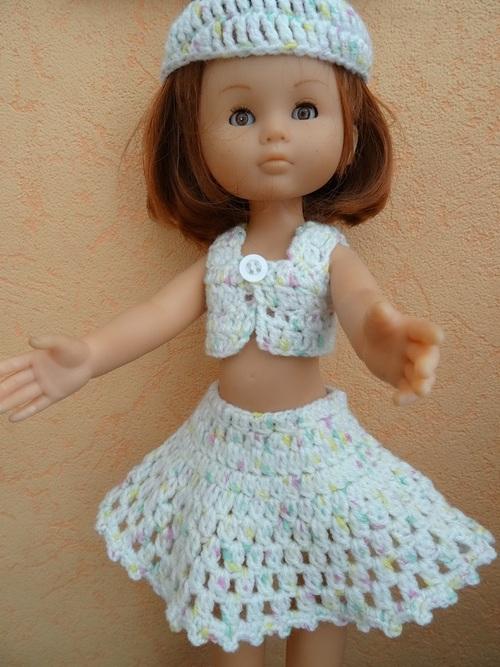 Fiche gratuite vêtements de poupée N° 206