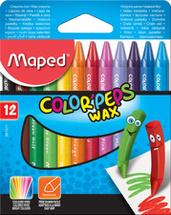 Craies de coloriage (pastels à l'huile, crayons à la cire).