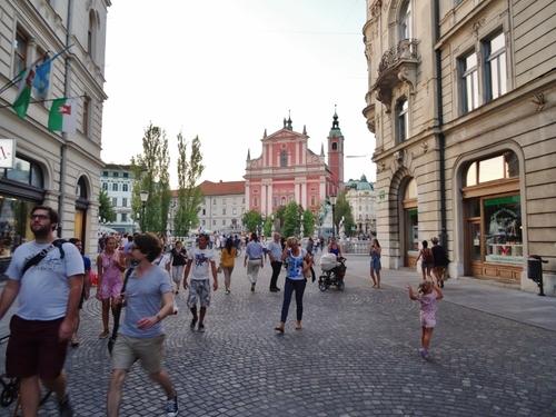 Autour des Trois Ponts à Ljubljana en Slovénie (photos