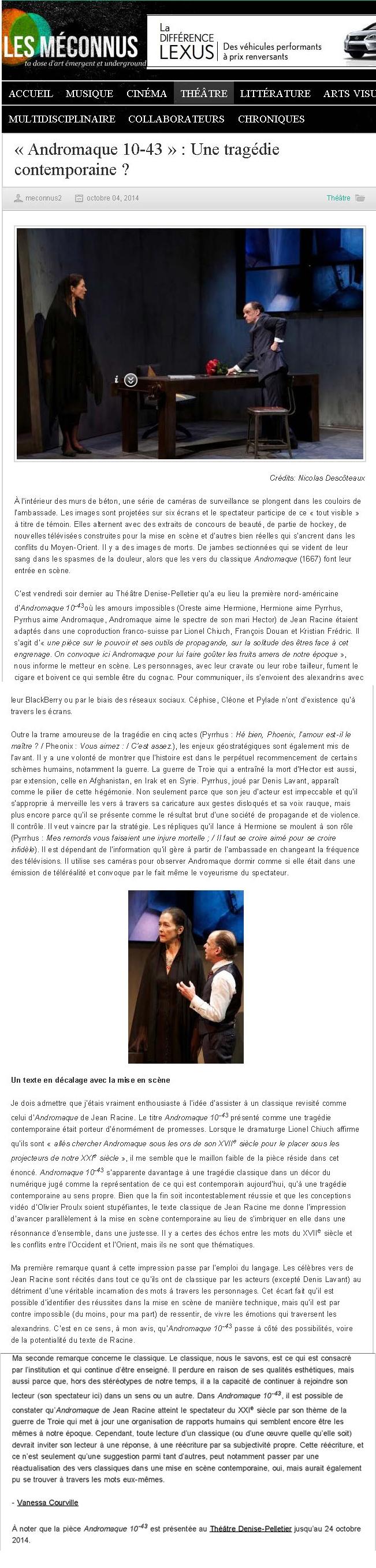 1Les Méconnus « Andromaque 10-43 » _ Une tragédie contemporaine _ - Les Méconnus_Page_1