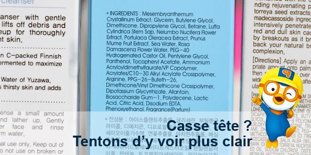 Point cosméto : Déchiffrer les étiquettes. (1/2)