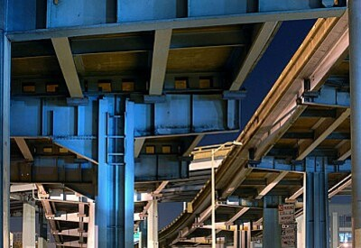 Under the central freeway at the fof of potrero hill San Fr