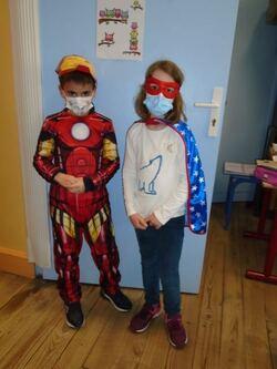 2 super héros !