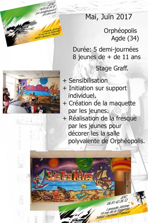 Stage graff espace jeunesse Sauvian (34) mai, juin, juillet 2017. Réalisation d'une oeuvre par les jeunes sur tout l'exterieur de la structure. plus de photos : http://www.jerc-tbm.com/crbst_5.html