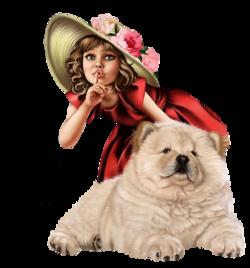 Petites filles avec animaux