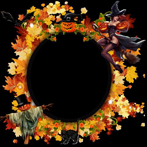 cadre halloween sorcière