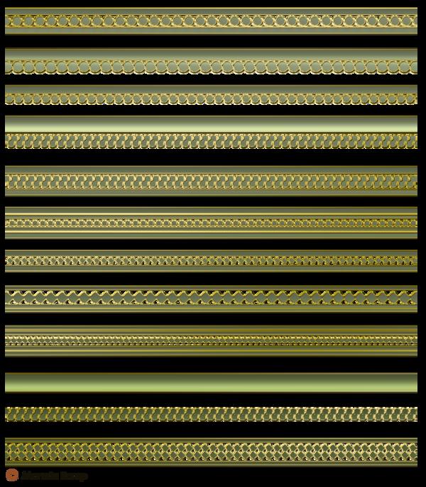 Bandelette de décoration metalique