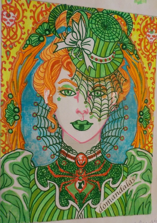 coloriage album magical beauties, dessin Cristina McAllister