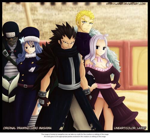 Colorisations groupe des membres de Fairy Tail