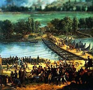 Napoléon-1796-Arcole-armée-française-contre-armée-autri