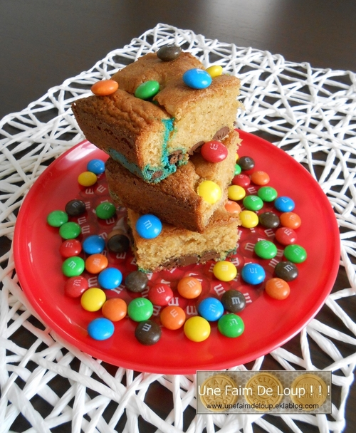 Blondies aux m&m's choco