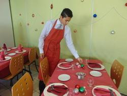 Préparation des fêtes en service
