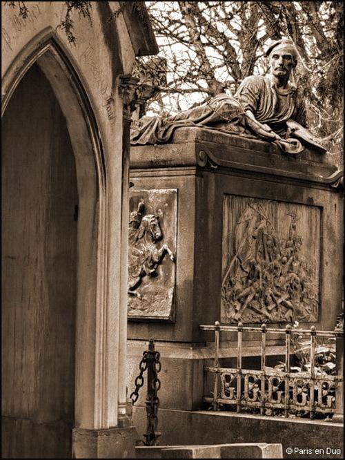 Théodore Géricault au Père-Lachaise