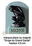 Mons marque-place porte-bonheur - Arts et Sculpture