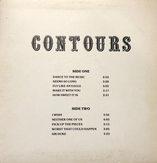 "The Contours: Album "" ''Solid Gold'' 1977 "" EYE, Inc Records KRS-LP-927 [ US ]"