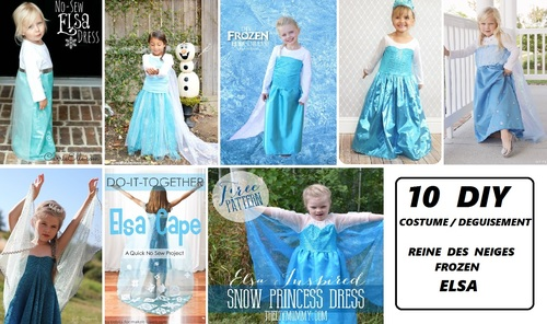 DIY : Costumes d' Elsa (enfant) - La Reine des Neiges (Frozen) de Disney