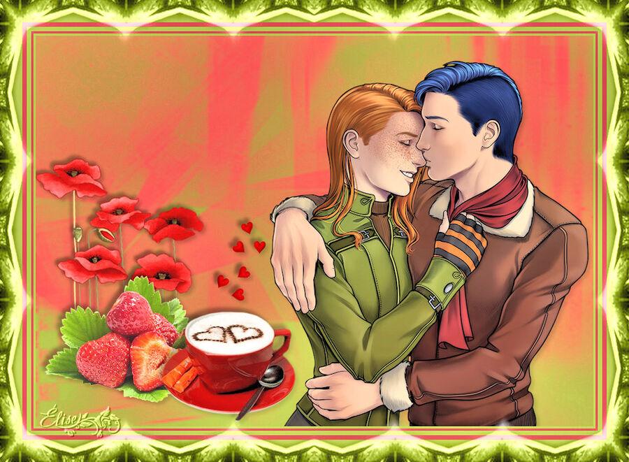pour avoir utilisé mon tube Saint Valentin dans ta création.