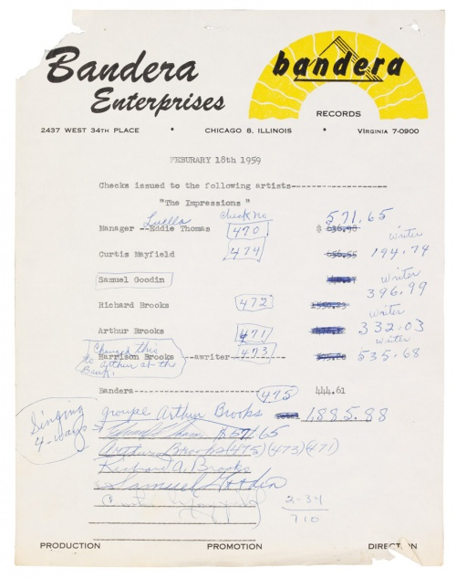 1959 : Single SP Bandera Records 2504 [ US ]