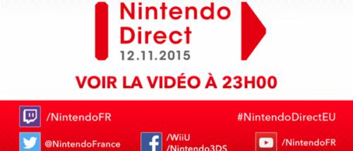Un Nintendo Direct jeudi à 23 heures