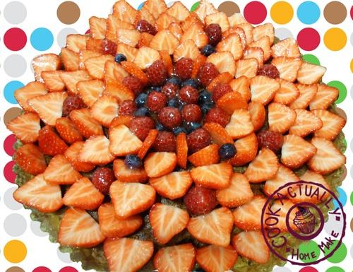 Tarte aux fraises et cème d'amande