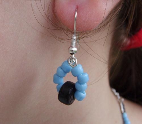 Les bijoux de l'été ! Boucles d'oreilles turquoises