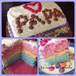 Rainbow cake de la fête des pères