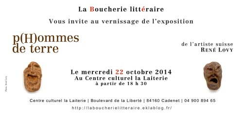 Invitation au vernissage de l'exposition p(H)ommes de terre