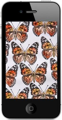 Défi gravure 30/52 - Tampon papillon Belle-dame