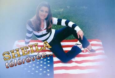 Mai 1976 : Sheila et le drapeau USA