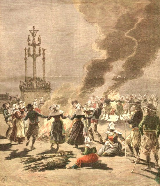 Les feux de la Saint-Jean en Bretagne à la fin du XIXe siècle