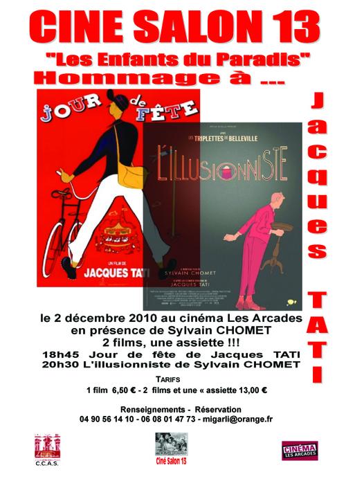 Le 2 décembre: Hommage à Jacques TATI