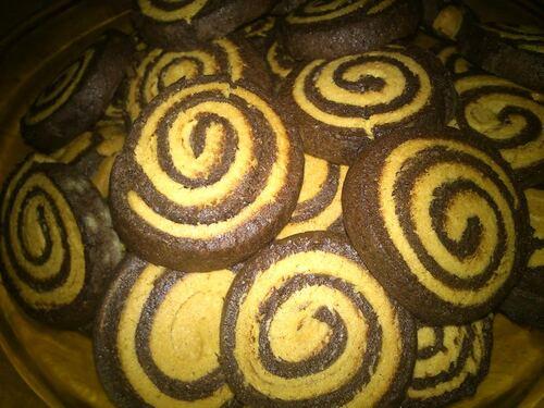 Des petits biscuit spirale pour le goûter (de Mimi)