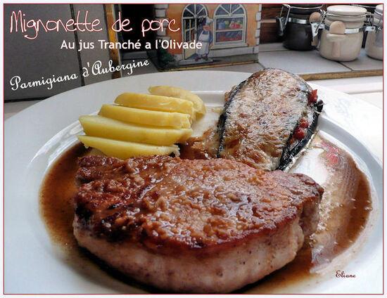 Porc & Parmigiana d'Aubergines
