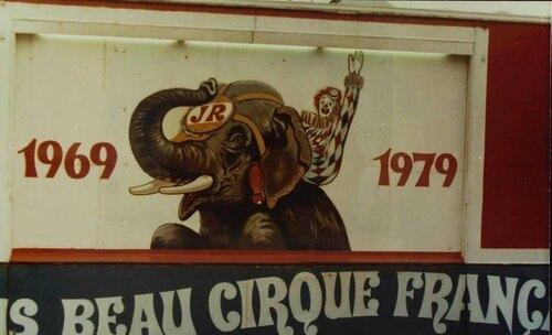Le cirque Jean Richard à Lyon Part Dieu du 19 au 28/10/1979 ( archives Jean Arnaud)