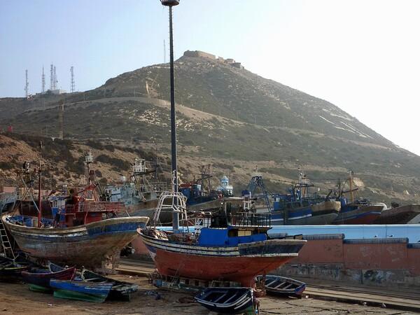 Agadir port + kasba