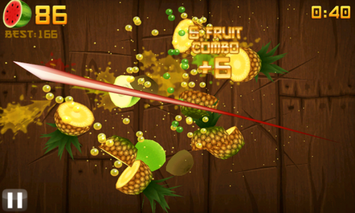 Fruit ninja , jeu gsm/tablette