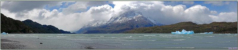 Lago Grey et ses icebergs - Parque Torres del Paine - Patagonie - Chili