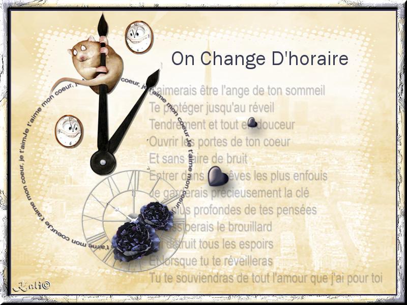 Changement d'horaire 01
