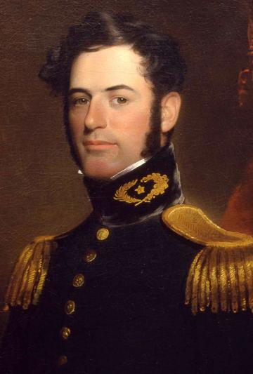 Robert Edward Lee en 1838 (19 janvier 1807, Stratford Hall - Virginie ; 12 octobre 1870, Lexington - Virginie)