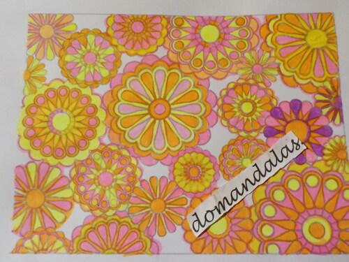 DOMANDALAS  coloriage fleurs