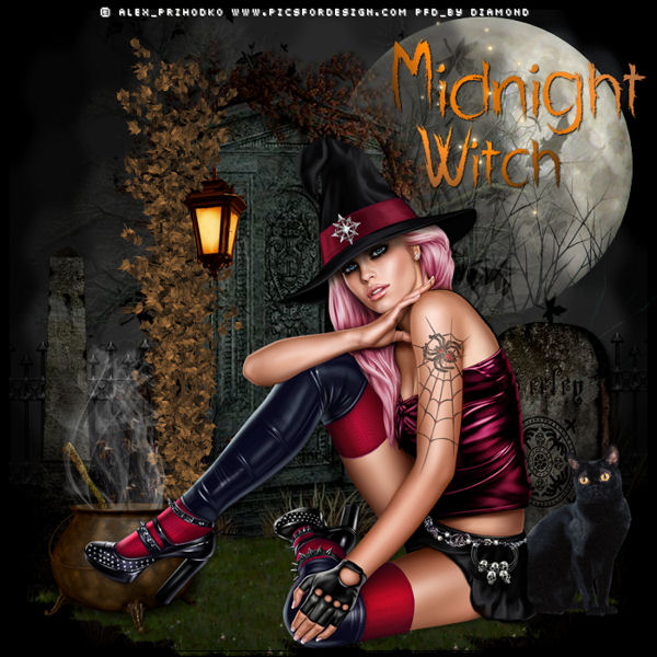 "Tutoriel "" MIDNIGHT WITCH"" de Vika Psp Design"