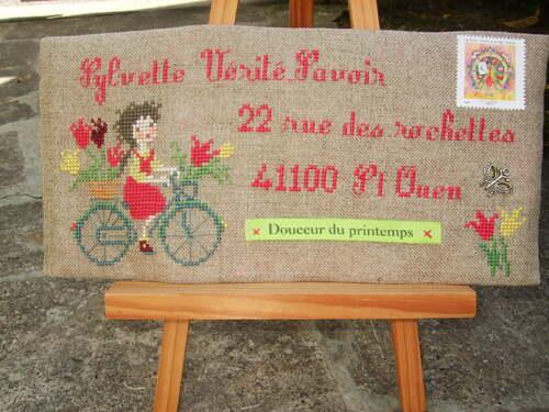 Enveloppe à la bicyclette et ATC