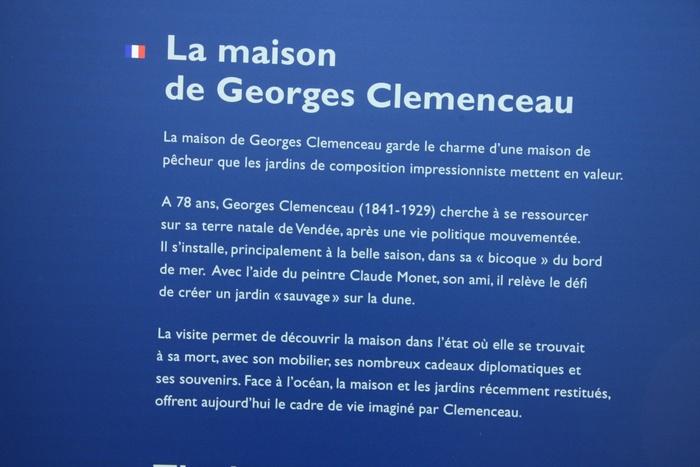 LA MAISON DE GEORGES CLÉMENCEAU (St Vincent sur Jard - 85)