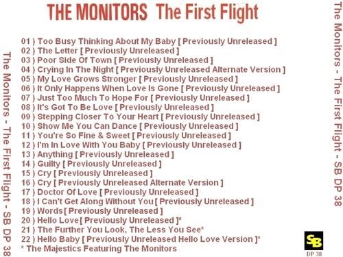 "The Monitors : CD "" The First Flight "" SB Records DP 38 [ FR ]"