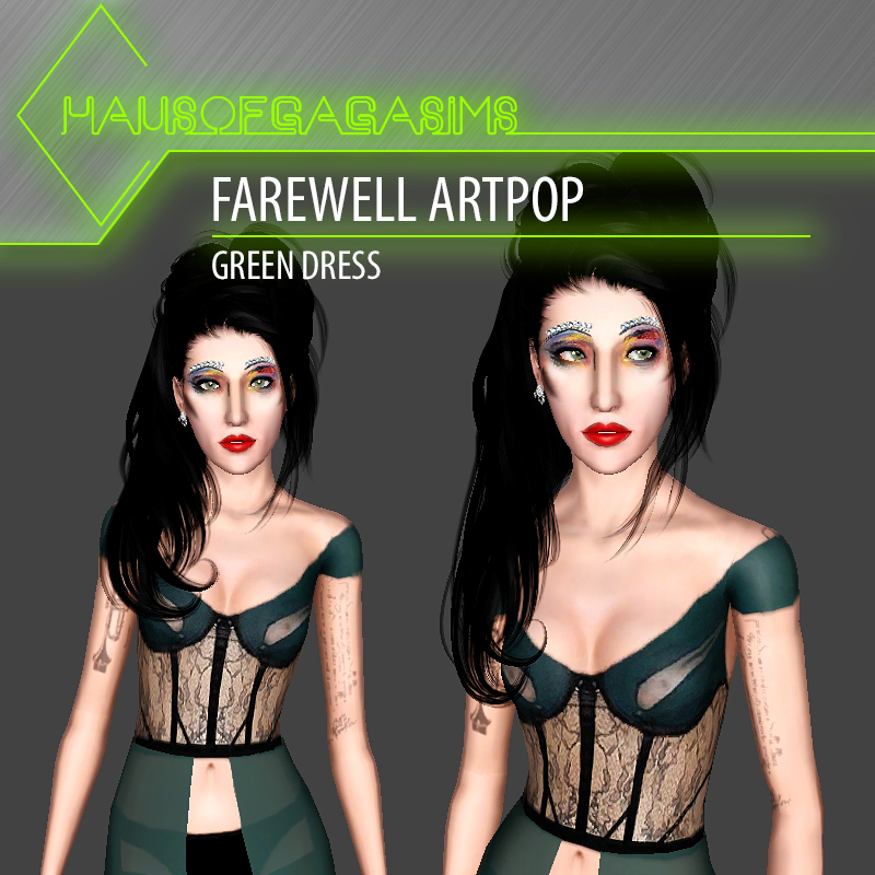 FAREWELL ARTPOP GREEN DRESS