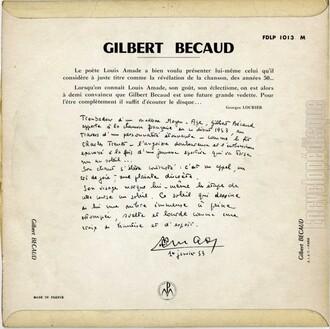 Gilbert  Bécaud, 1953