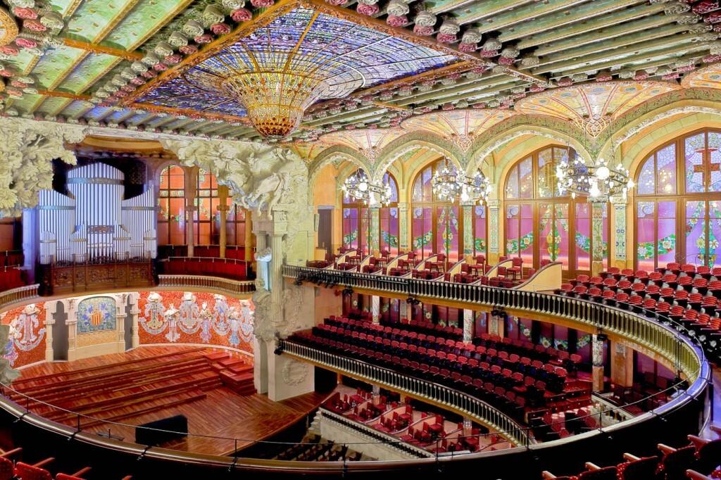 Plafonds du Palau de la Música Catalana